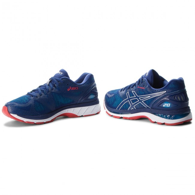 shoes asics gel nimbus 20 t800n blue print race blue 400 indoor running shoes sports shoes mens shoes efootwear.eu