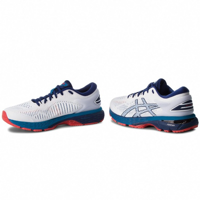 BLUE PRINT WHITE ASICS MENS GEL-KAYANO 25 RUNNING SNEAKERS-SHOES-1011A019-100