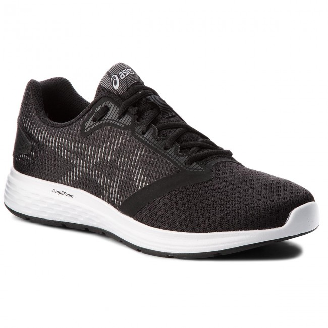 Asics Patriot 10 Black White Grey Men Running Shoes Sneakers 1011A131-001