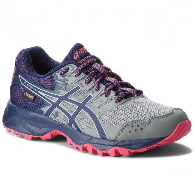 good texture top brands authentic Shoes ASICS - Gel-Sonoma 3 G-Tx GORE-TEX T777N Stone Grey/Pixel ...