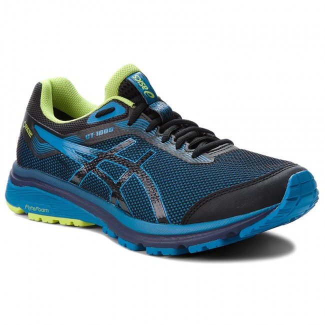 Ajuste Civil Ceniza  Shoes ASICS - GT-1000 7 G-Tx GORE-TEX 101A037 Black/Race Blue 001 - Indoor  - Running shoes - Sports shoes - Men's shoes | efootwear.eu