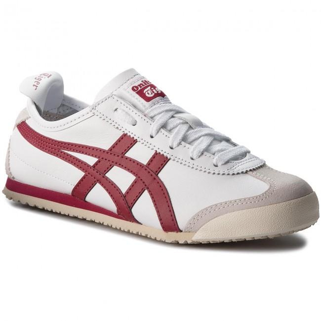 check out b87fd 7e200 Sneakers ASICS - ONITSUKA TIGER Mexico 66 D4J2L White/Burgundy 0125