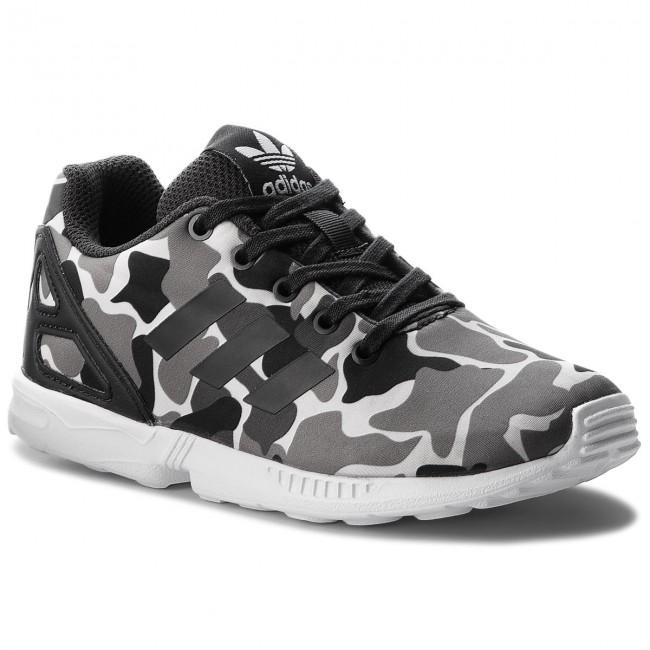 f1e3175a37105 Shoes adidas - Zx Flux C AQ1739 Carbon/Carbon/Ftwwht - Laced shoes ...