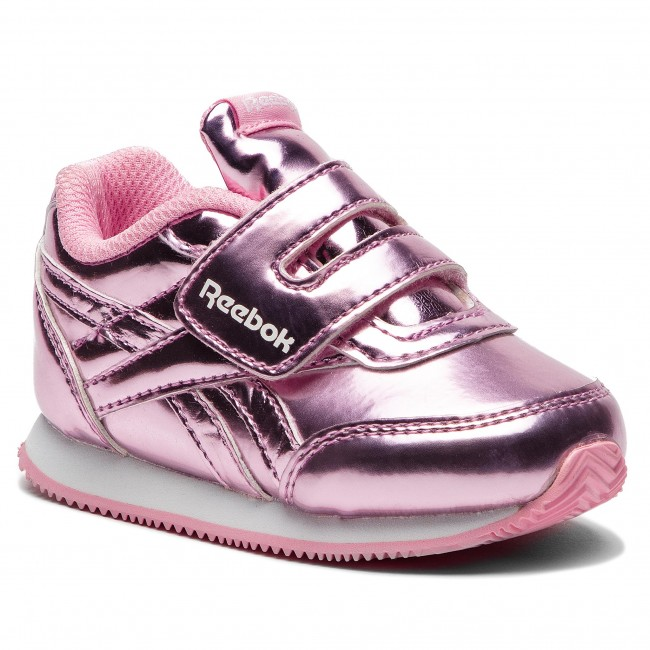 Girls Reebok Metallic Pink Sneakers