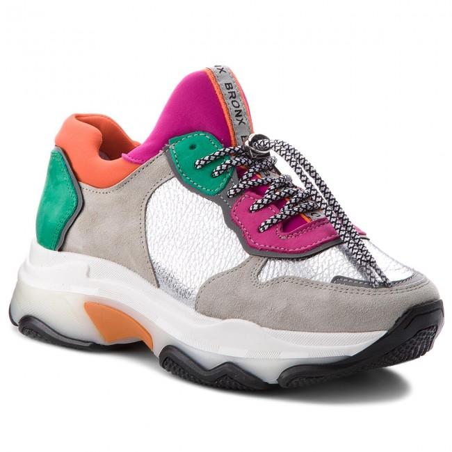 Sneakers BRONX - 66167-E BX 1525 Off White/Silver/Fuchsia 2357