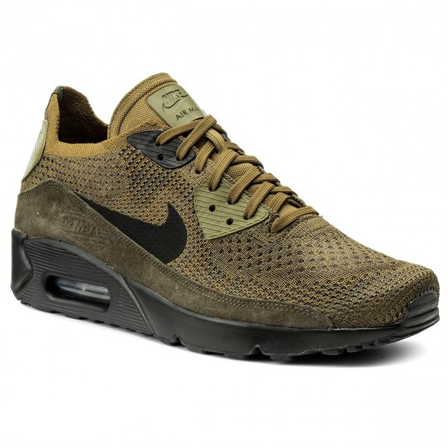 Shoes NIKE Air Max 90 Ultra 2.0 Flyknit 875943 302 Olive FlakBlackCargo Khaki