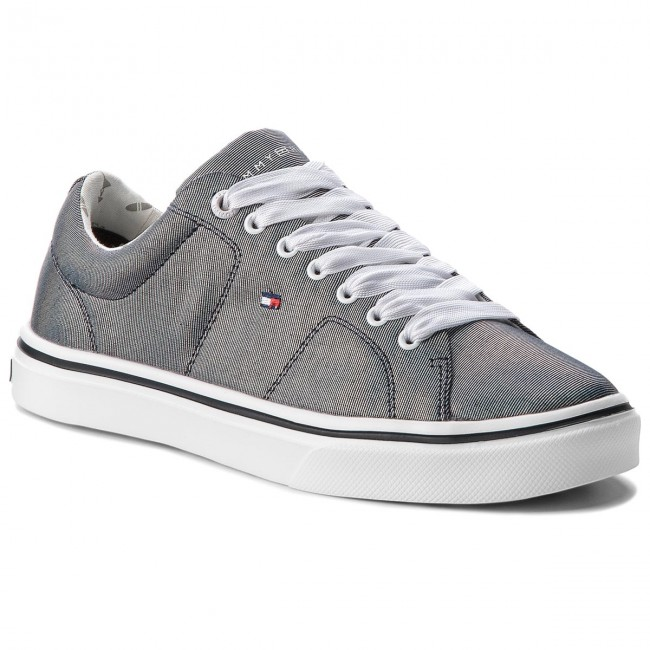 Plimsolls TOMMY HILFIGER - Metallic Light Weight Lace Up FW0FW03028 Midnight 403