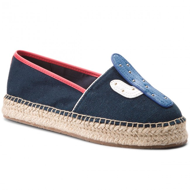 Espadrilles TOMMY HILFIGER Patch Espadrille Corporate FW0FW03389 Midnight 403