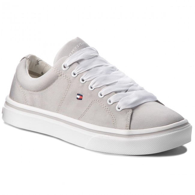 Sneakers TOMMY HILFIGER - Metallic Light Weight Lace Up FW0FW03028 Diamond Grey 001