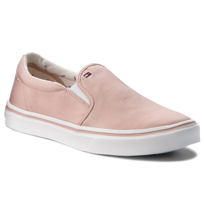 Plimsolls TOMMY HILFIGER - Metallic Light Weight Slip On FW0FW03029  Dusty Rose 502