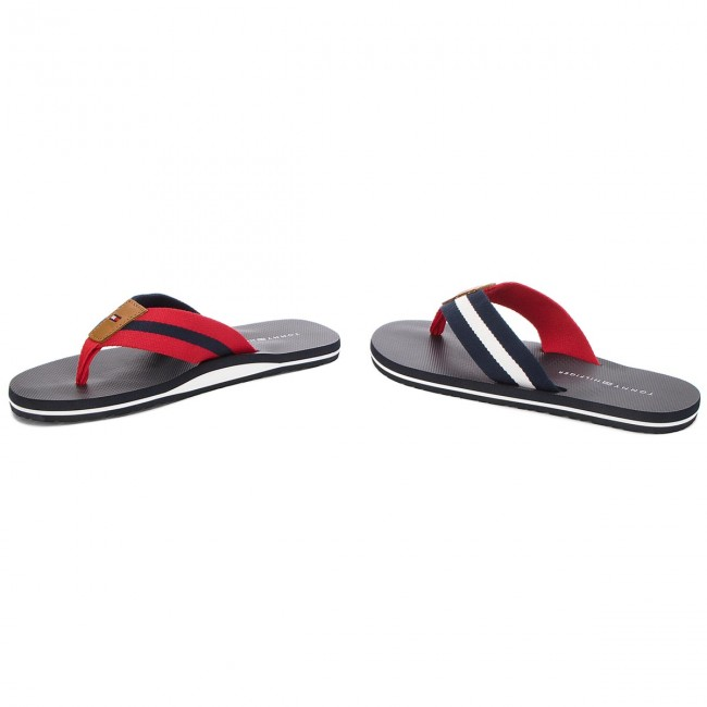 649aed5a8e Slides TOMMY HILFIGER - Beach Sandal With Stripes FM0FM01597 Midnight 403