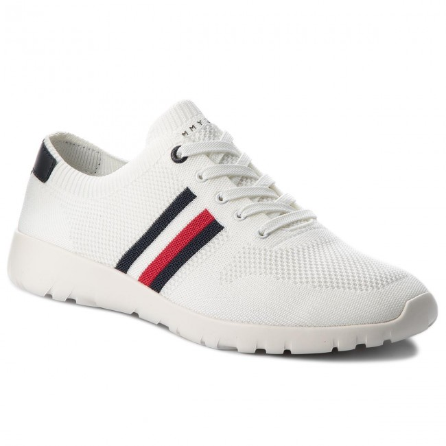 Sneakers TOMMY HILFIGER - Extra Lighweight Knitted Runner FM0FM01621  White 100