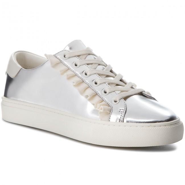 Ruffle Metallic Sneaker 50107 Silver
