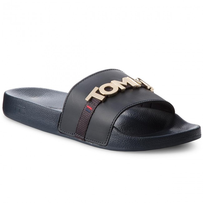 226fde919 Slides TOMMY HILFIGER - Beach Slide FW0FW02965 Midnight 403 - Casual mules  - Mules - Mules and sandals - Women's shoes - efootwear.eu