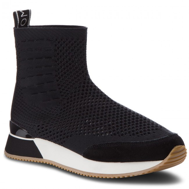 55a5ff9c4f4 Sneakers TOMMY HILFIGER - Knitted Mid Lifestyle Sneaker FW0FW03014 Black 990