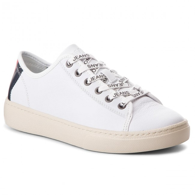 tommy jeans light leather low off 64