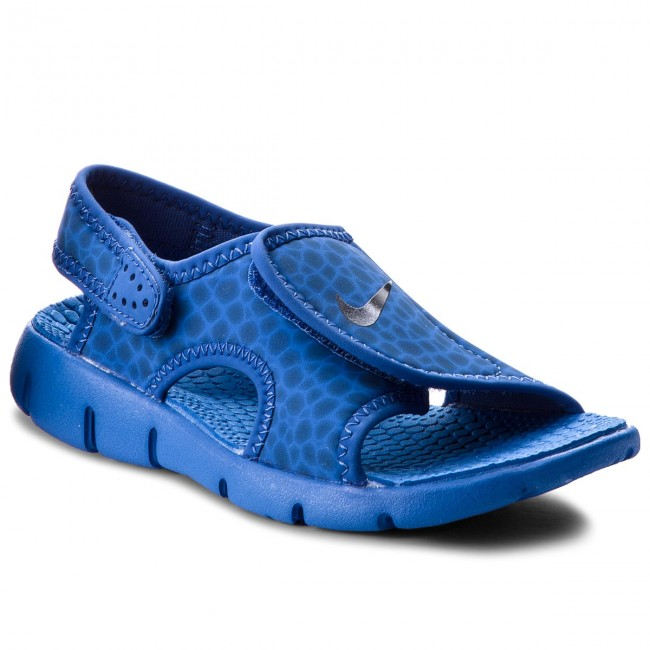 Sandals NIKE - Sunray Adjust 4 (GS/PS) 386518 414 Game Royal/Obsidian/Game Royal