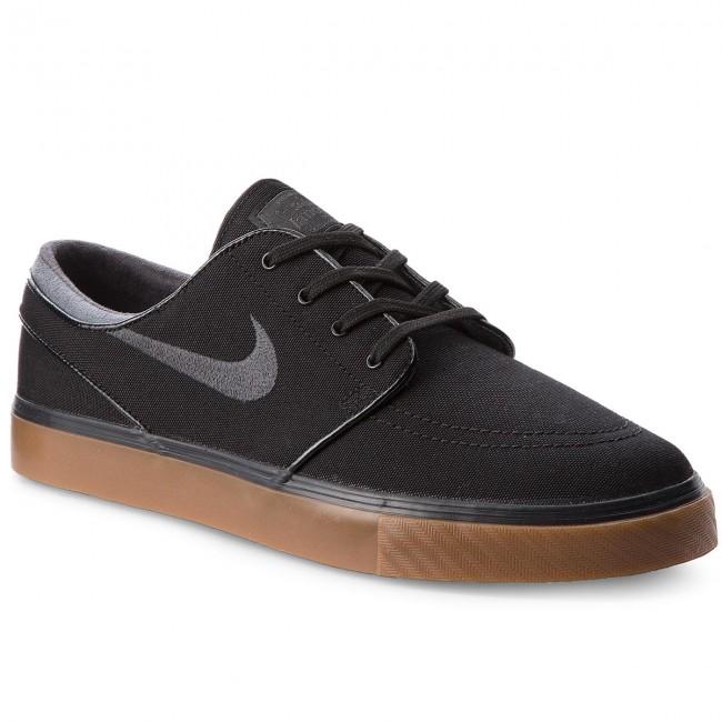 Shoes NIKE - Zoom Stefan Janoski Cnvs 615957 020 Black/Anthracite/Gum Med Brown