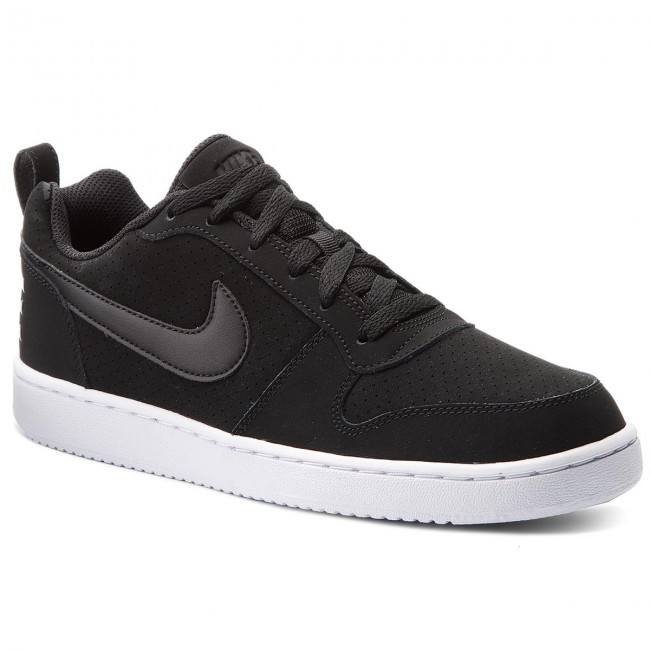 Shoes NIKE - Court Borough Low 844905 001 Black/Black/White