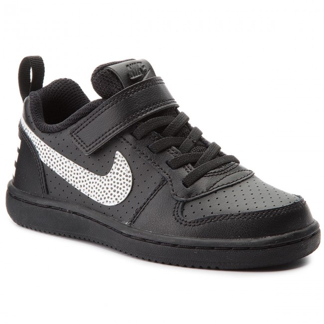 Shoes NIKE - Court Borough Low (PSV) 870025 004 Black/White
