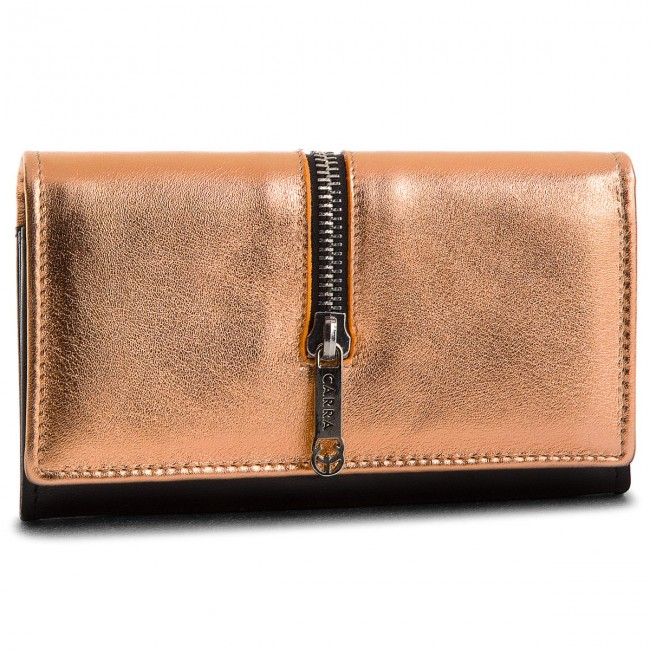 Large Women's Wallet CARRA - PC69 Miedź Jasna