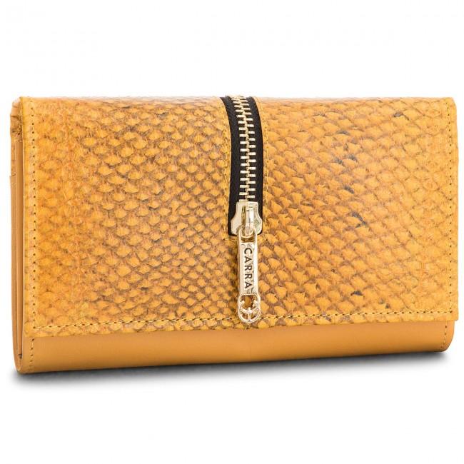 Large Women's Wallet CARRA - PC-69 Yellow