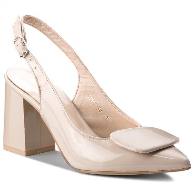 Sandals SAGAN - 3192 Beżowy Lakier