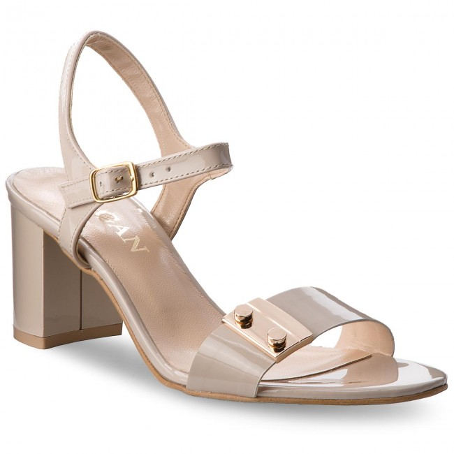 Sandals SAGAN - 3194 Beżowy Lakier