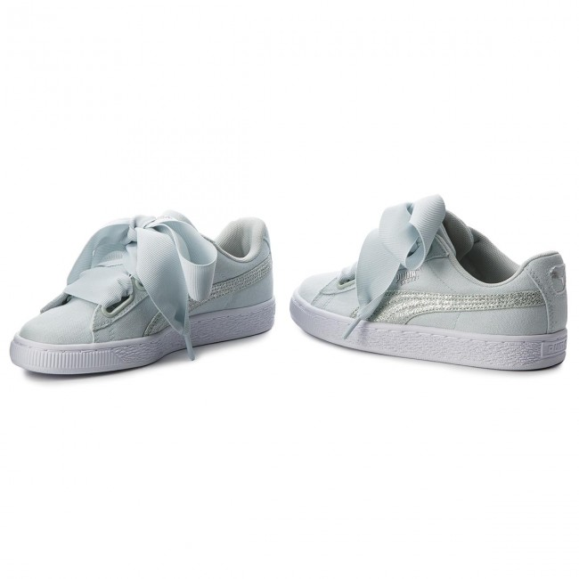 sale retailer e537c 3bbb4 Sneakers PUMA - Basket Heart Canvas 366495 03 Blue Flower/White/Silver