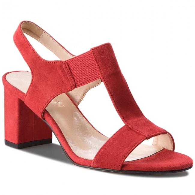 Sandals SAGAN - 2927 Czerwony Welur