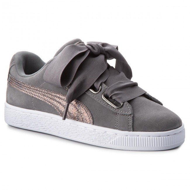 Sneakers PUMA Suede Heart LunaLux Wn's 366114 01 Smoked
