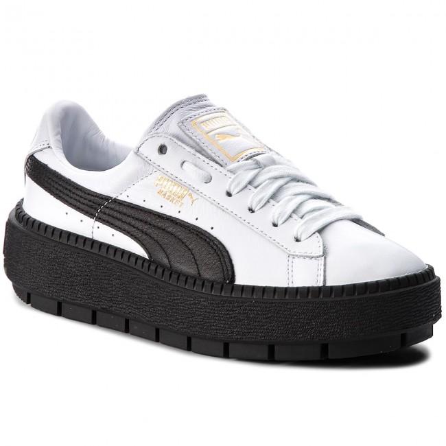 timeless design 35e4e 2e100 Sneakers PUMA - Platform Trace L Wn's 366109 02 Puma White/Puma Black