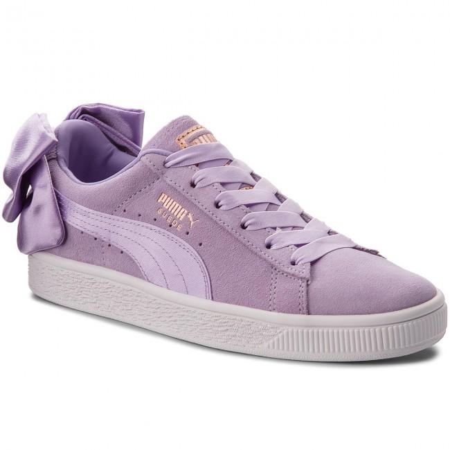 3d523a5544c0 Sneakers PUMA - Suede Bow Jr 367316 03 Purple Rose/Purple Rose ...