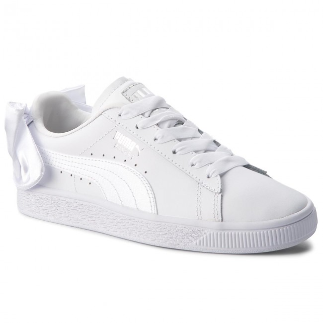 Sneakers PUMA - Basket Bow Jr 367321 01 Puma White/Puma White