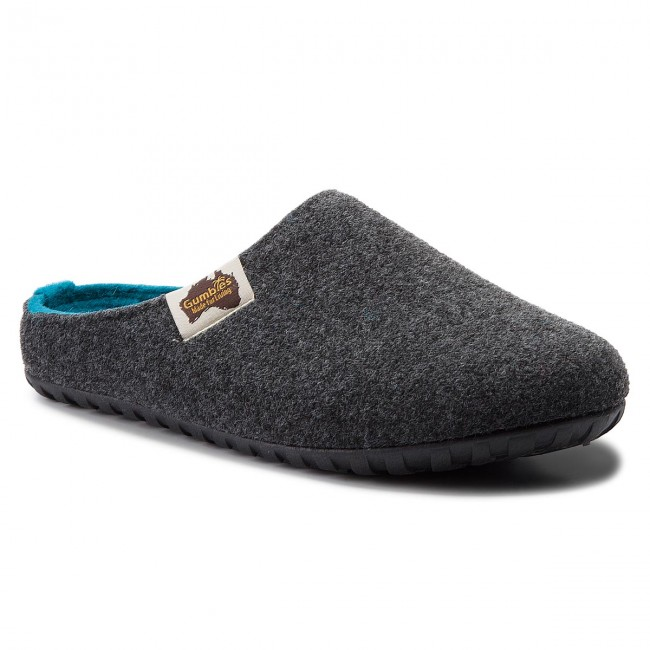 Slippers GUMBIES - Outback Charcoal/Turquoise