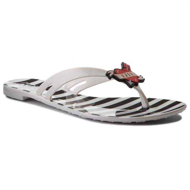 Slides KARL LAGERFELD - KL80003  White Rubber W/Black