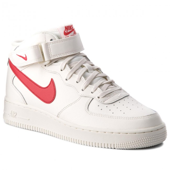 Litoral desagradable Característica  Shoes NIKE - Air Force 1 Mid '07 315123 126 Sail/University Red - Sneakers  - Low shoes - Men's shoes | efootwear.eu