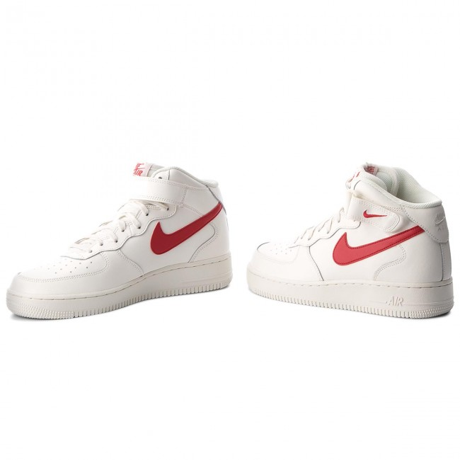 Nike Air Force 1 Mid Sail University Red 315123 126