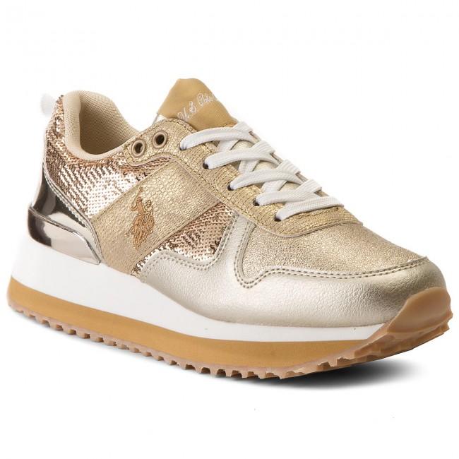 Sneakers U.S. POLO ASSN. - Tabitha FRIDA4042S8/TY1 Glitter Gold