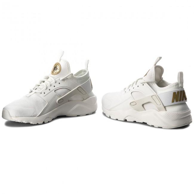 Shoes NIKE Air Huarache Run Ultra (GS) 847568 102 Summit WhiteMetallic Gold