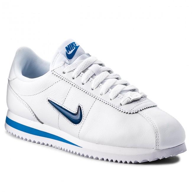 Shoes NIKE - Cortez Basic Jewel '18 AA2145 101 White/Blue Jay