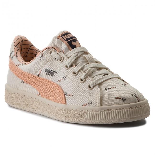Sneakers PUMA - X Tc Basket Cvs Ps 364559 02 Whisper White/Peach Nougat