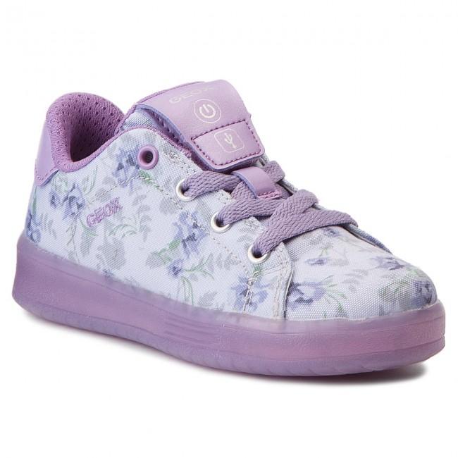 Sneakers GEOX - J Kommodor G. B J824HB 000AN C8S8R Lt Lilac/Lilac