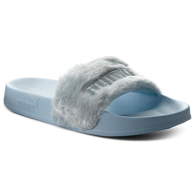 Slides PUMA - Fur Slide 365772 03 Cool Blue/Puma Silver