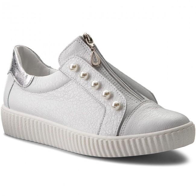 Sneakers R.POLAŃSKI - 0921 Biały Krasz Srebrny