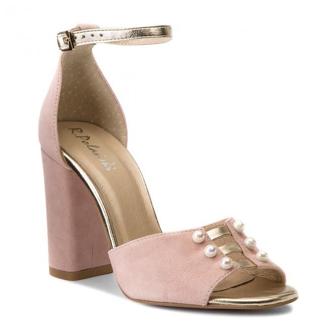 Sandals R.POLAŃSKI - 0934 Róż Pudrowy Zamsz