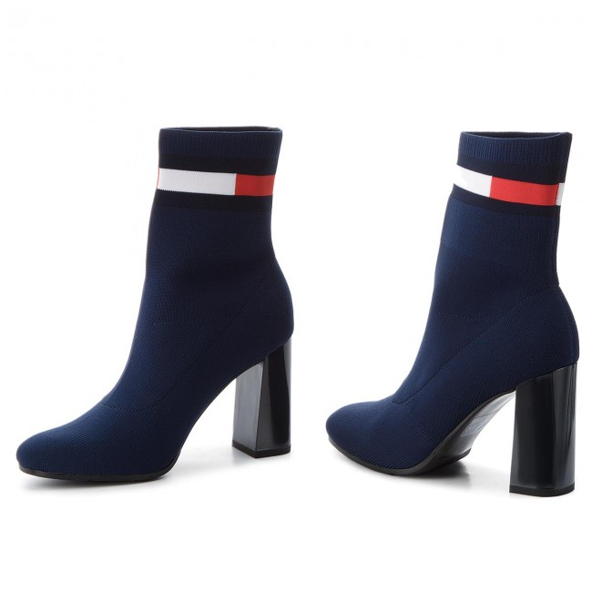 Boots TOMMY JEANS - Sock Heeled Boot