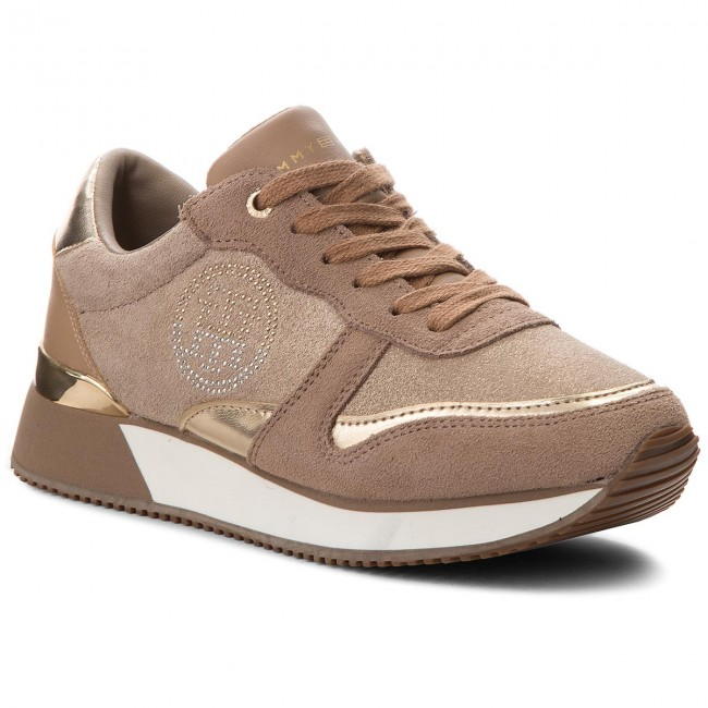 Sneakers Tommy Hilfiger   SNEAKER DARK TAUPE TOMMY HILFIGER