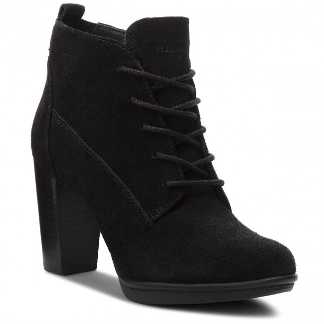 Boots Tommy Hilfiger Basic Lace Up Heel B Fw0Fw03573 Black 990 Tommy Hilfiger High Heel Boots Shoes