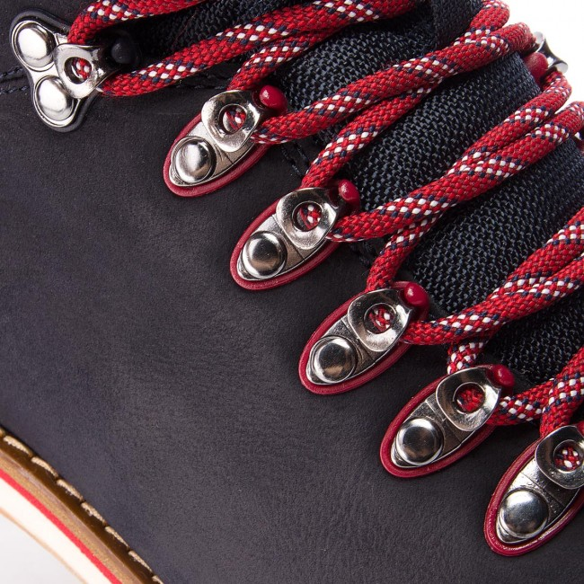 Hiking Boots TOMMY HILFIGER Outdoor Hiking Detail Boot FM0FM01755 Midnight 403